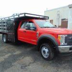 Red work truck