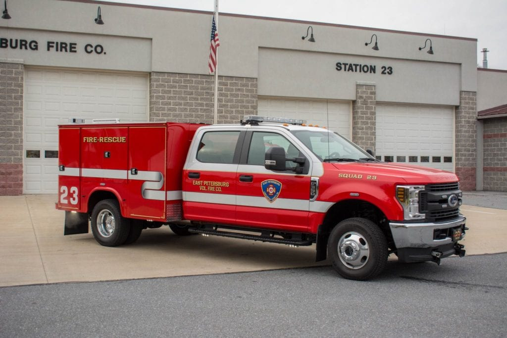 side of east petersburg volunteer fire company fire-rescue truck