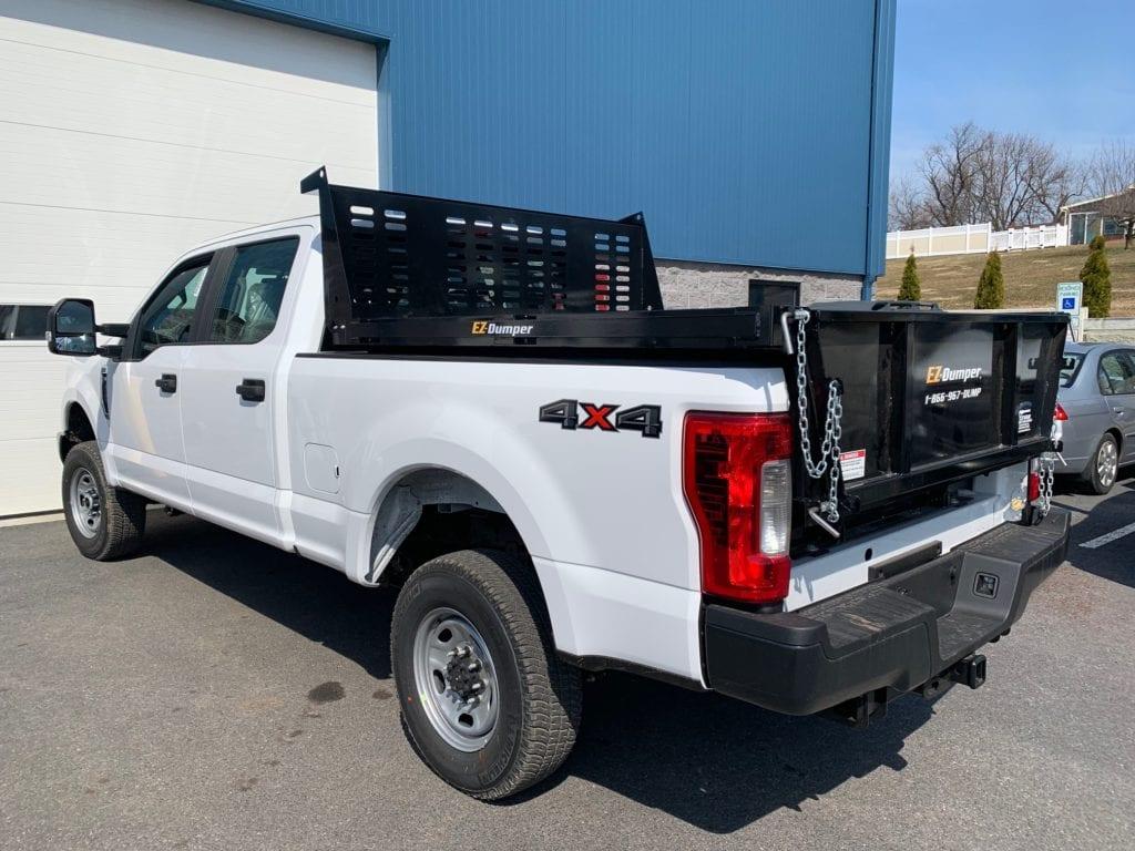 back of pickup truck with ez dumper