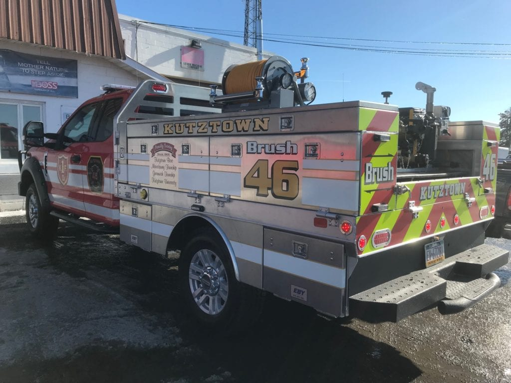 back of kutztown fire truck