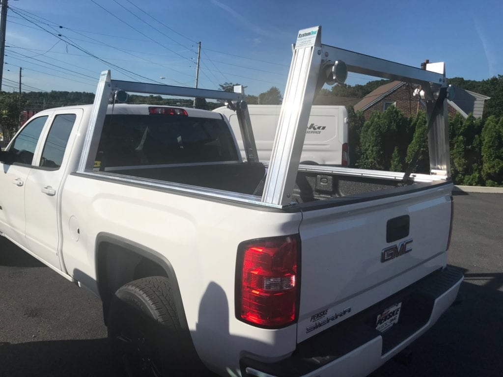 truck bed of white pickup truck