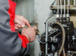 fixing a truck part