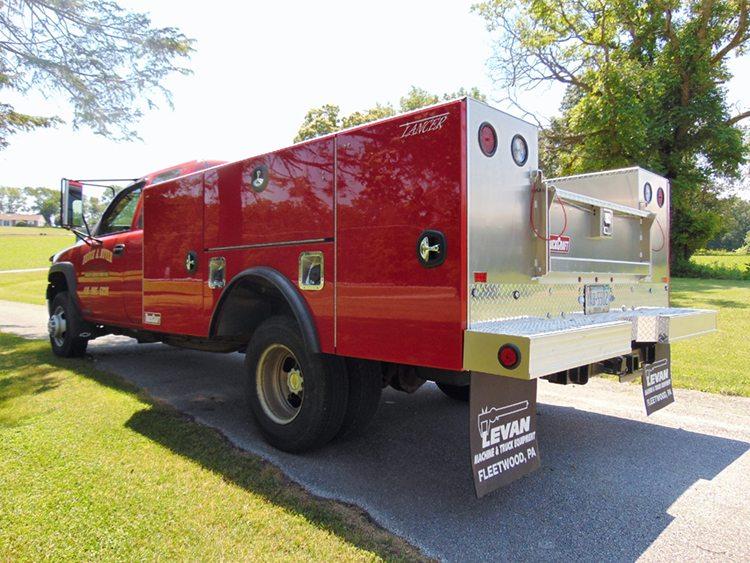 Red TruckCraft brand service truck body