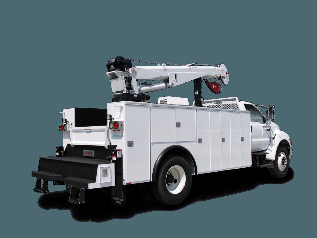 white mechanic truck 3D rendering