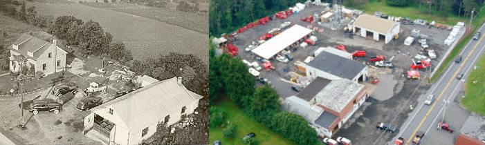 aerial view of machine shop in fleetwood pa