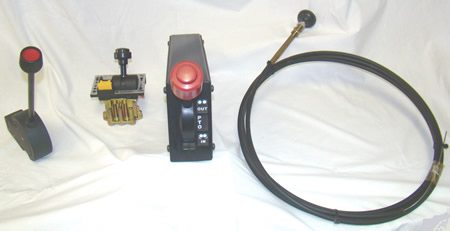 collection of snow plow cables and controls